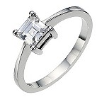 Platinum 0.66 carat diamond solitaire ring - Product number 8654778