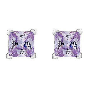 Silver Lilac Cubic Zirconia Stud Earrings - Product number 8655987