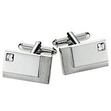 Rectangular Brush/Polished Crystal Cufflinks - Product number 8657130