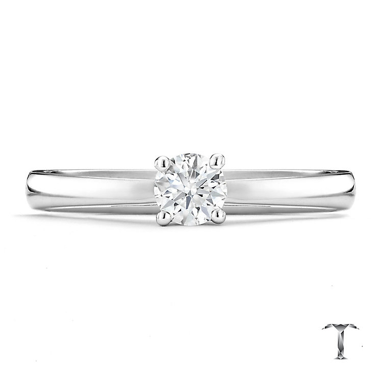 Tolkowsky 18ct white gold 0.25ct HI-VS2 diamond ring - Product number 8657610