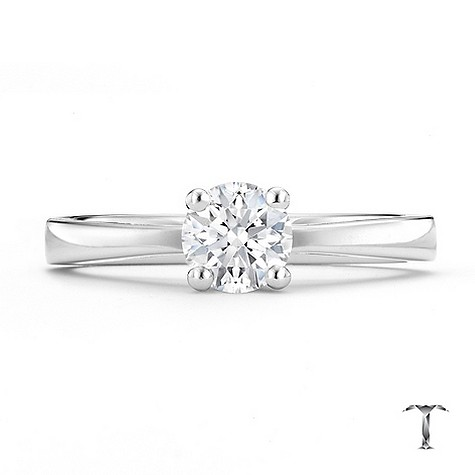Tolkowsky 18ct white gold HI VS2 1/2 carat diamond ring