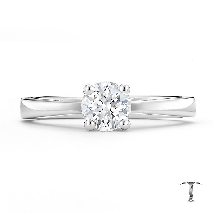 Tolkowsky 18ct white gold 0.50ct HI-VS2 diamond ring - Product number 8657882
