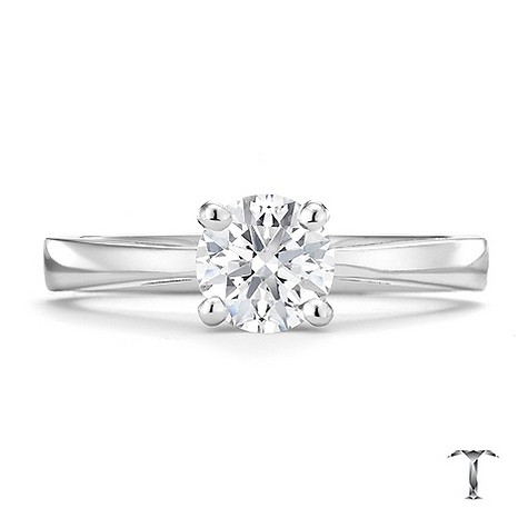 Tolkowsky 18ct white gold HI VS2 3/4 carat diamond ring