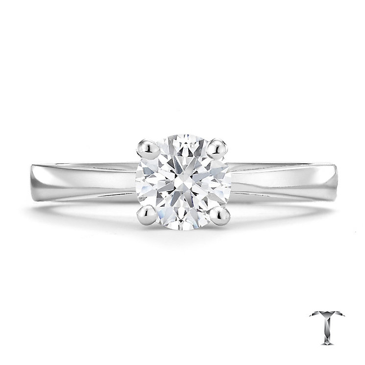 Tolkowsky 18ct white gold 0.75ct HI-VS2 diamond ring - Product number 8658145
