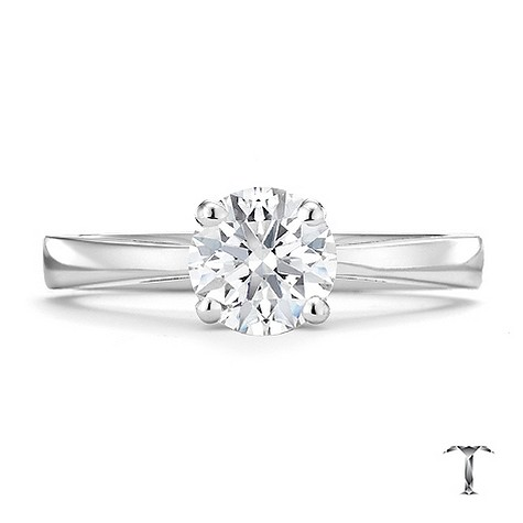 Tolkowsky 18ct white gold HI VS2 1 carat diamond ring