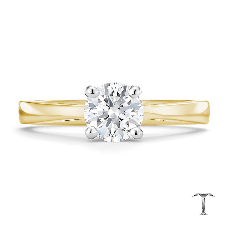 Tolkowsky 18ct yellow gold 0.75ct HI-VS2 diamond ring - Product number 8658943