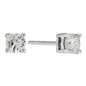 9ct White gold diamond stud earrings - Product number 8659354