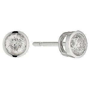 9ct White Gold Diamond Stud Earrings - Product number 8659362