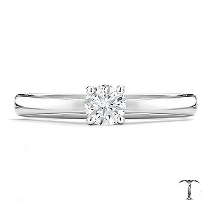 Tolkowsky platinum HI VS2 1/3 carat diamond ring - Product number 8659389