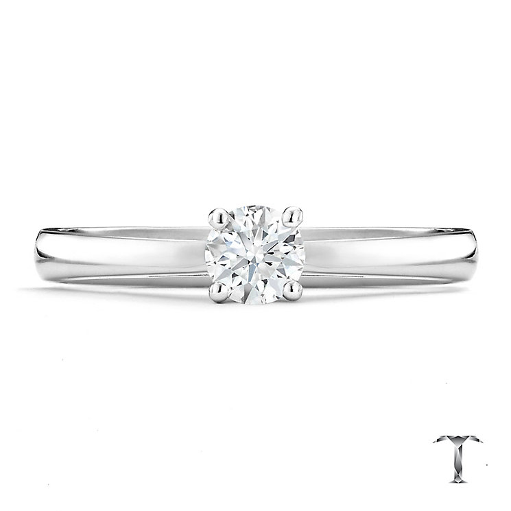 Tolkowsky platinum HI VS2 0.33ct diamond ring - Product number 8659389
