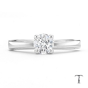 Tolkowsky platinum HI VS2 1/2 carat diamond ring - Product number 8659516
