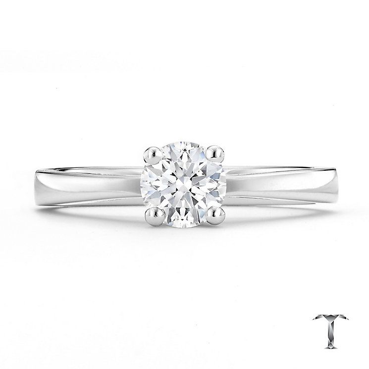 Tolkowsky platinum 0.50ct HI-VS2 diamond ring - Product number 8659516