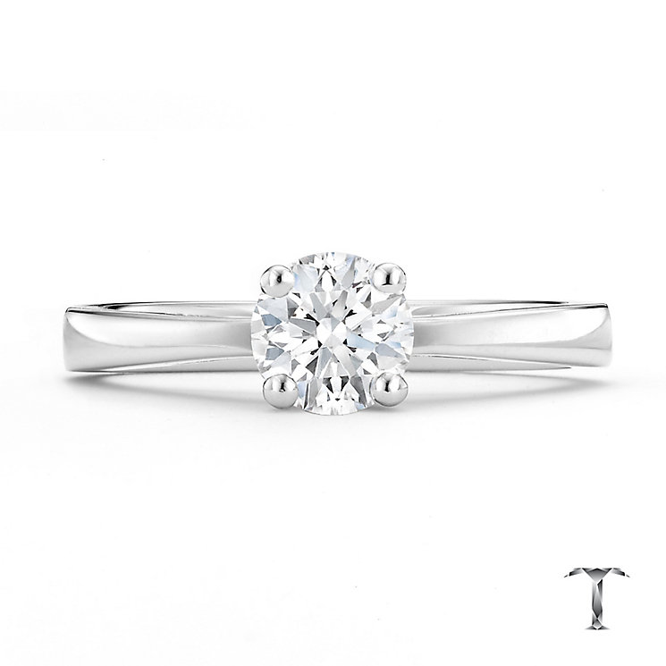 Tolkowsky platinum 0.66ct HI-VS2 diamond ring - Product number 8659648