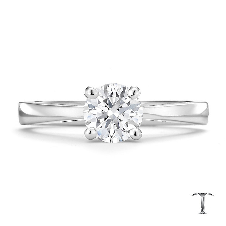 Tolkowsky platinum 0.75ct HI-VS2 diamond ring - Product number 8659761