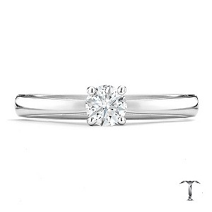 Tolkowsky 18ct white gold I I1 0.33ct diamond ring - Product number 8660174