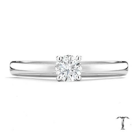 Tolkowsky 18ct white gold I I1 1/3 carat diamond ring