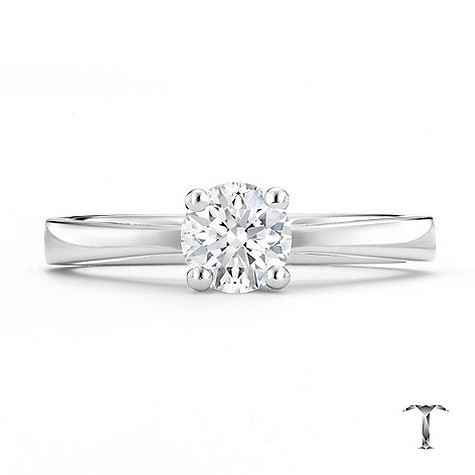 Tolkowsky 18ct white gold I I1 1/2 carat diamond ring