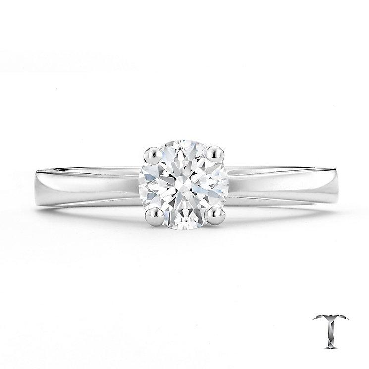 Tolkowsky 18ct white gold 0.66ct I-I1 diamond ring - Product number 8660433