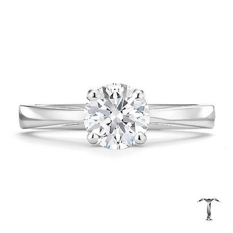Tolkowsky 18ct white gold I I1 1 carat diamond ring