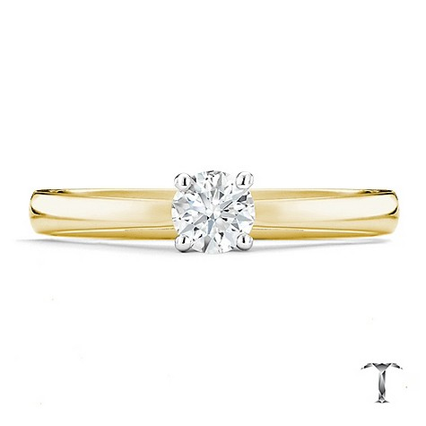 Tolkowsky 18ct yellow gold I I1 1/3 carat diamond ring