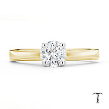 Tolkowsky 18ct yellow gold 0.66ct I-I1 diamond ring - Product number 8661251