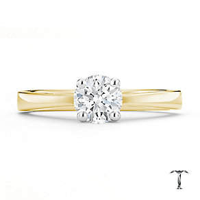 Tolkowsky 18ct yellow gold I I1 0.66ct diamond ring - Product number 8661251
