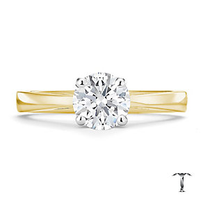 Tolkowsky 18ct yellow gold I I1 1carat diamond ring - Product number 8661537