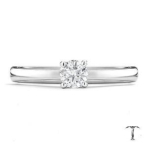 Tolkowsky platinum I I1 0.25ct diamond ring - Product number 8661677