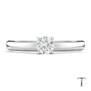 Tolkowsky platinum I I1 0.33ct diamond ring - Product number 8661804