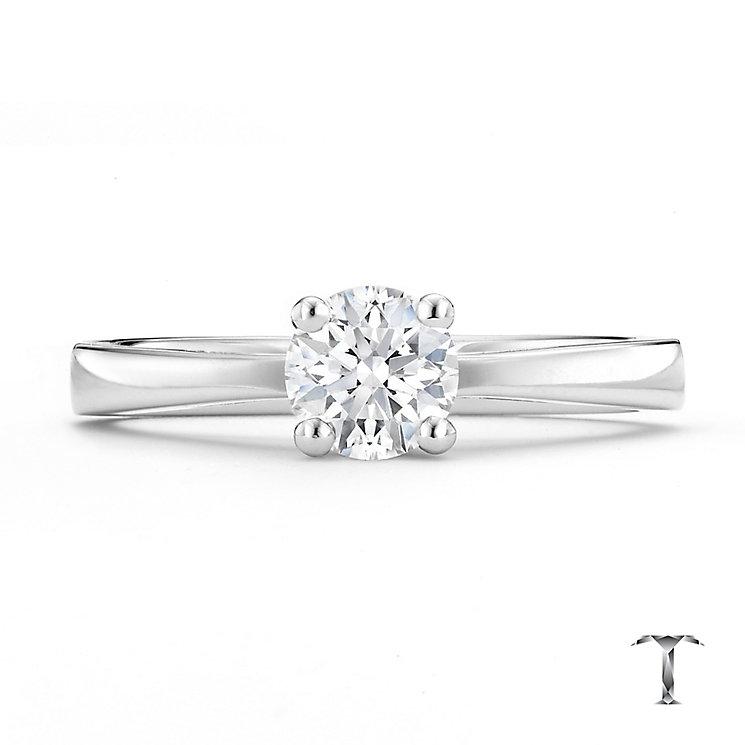 Tolkowsky platinum 0.50ct I-I1 diamond ring - Product number 8661944