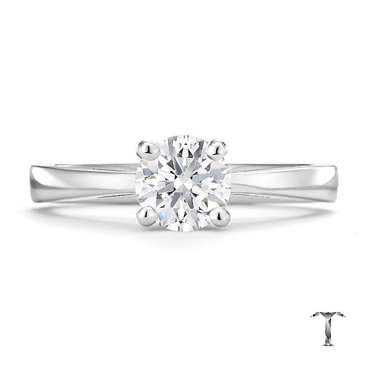 Tolkowsky platinum 0.75ct I-I1 diamond ring - Product number 8662215