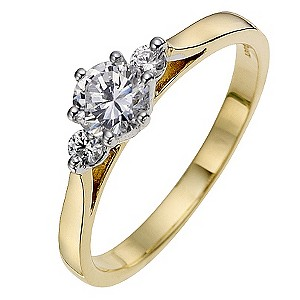 18ct Yellow Gold 0.60 Carat Diamond Solitaire Ring