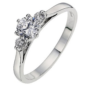 18ct White Gold 0.60 Carat Diamond Solitaire Ring