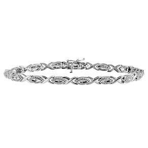 Sterling Silver & Diamond Bracelet - Product number 8662789