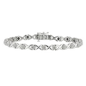 Sterling Silver & Diamond Bracelet - Product number 8662800