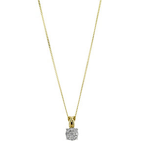 9ct Yellow Gold Diamond Pendant - Product number 8662843