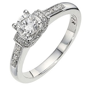 The Forever Diamond - 18ct White Gold 2/3 Carat Diamond Ring - Product number 8663181
