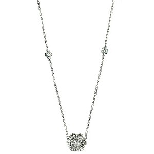 Keepsake Sterling Silver Diamond Flower Pendant - Product number 8663408