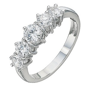 18ct White Gold 1 Carat Diamond Eternity Ring