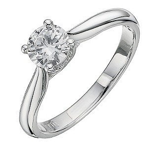 18ct White Gold 2/3 Carat Diamond Solitaire Ring