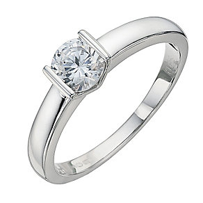 18ct White Gold 2/3 Carat Diamond Solitaire Ring - Product number 8665281