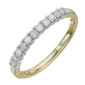 9ct Yellow Gold 1/4 Carat Diamond Eternity Ring