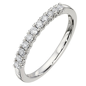 9ct White Gold Quarter Carat Diamond Eternity Ring - Product number 8666733