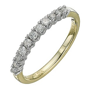 9ct Yellow Gold Third Carat Diamond Eternity Ring