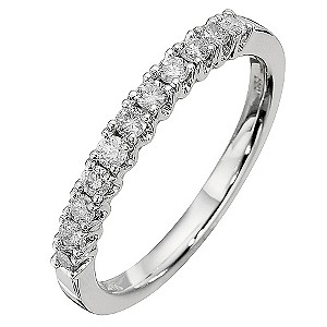 9ct White Gold Third Carat Diamond Eternity Ring - Product number 8667276