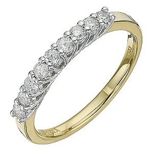 18ct Yellow Gold Third Carat Diamond Eternity Ring