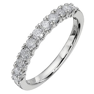 9ct White Gold Half Carat Diamond Eternity Ring
