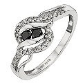 Noir 9ct White Gold 1/3 Carat Treated Black Diamond Ring - Product number 8668841