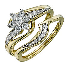 9ct Gold 1/2 Carat Diamond Perfect Fit Bridal Set - Product number 8671818
