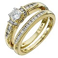 18ct Yellow Gold 0.60 Carat Diamond Bridal Set - Product number 8672199